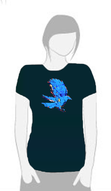 Electric Crow - T Shirt by Tom Leedy